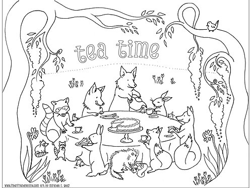 Coloring Sheet: Tea Time