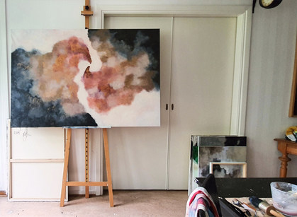 The path of braverly love. 100 x 150 cm.