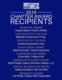 2019 Chapter Award Recipients