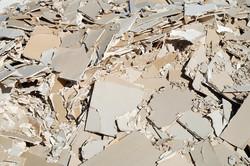 rough plasterboard