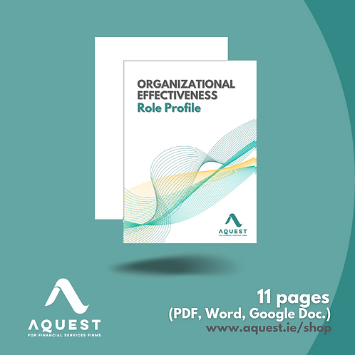 Organisational Effectiveness Role Profile