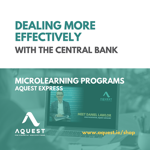 Dealing more effectively with the Central Bank