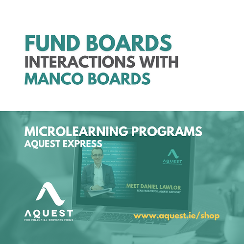 Fund Boards interactions with ManCo Boards
