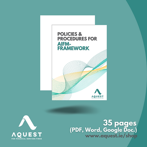 Policies and Procedures for AIFM - Framework