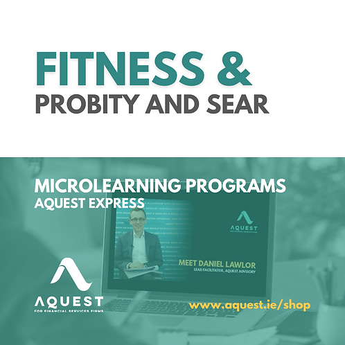 Fitness & Probity and SEAR
