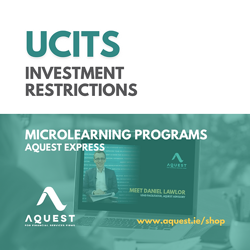 UCITS Investment Restrictions