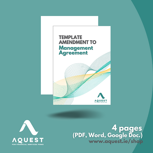 Template Amendment to Management Agreement
