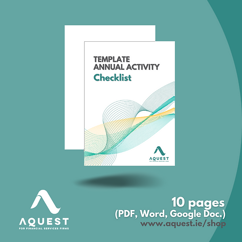 Template Annual Activity Checklist