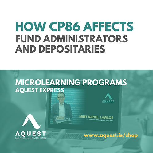 How CP86 affects Fund Administrators and Depositaries