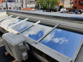 Klima forbedring med solfilm på tagvinduer