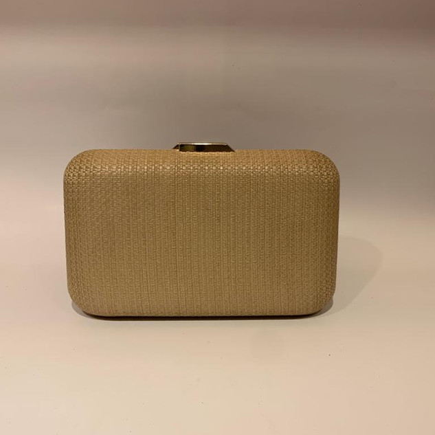 Bolsa Clutch Palha Natural
