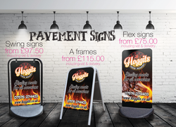 PAVEMENT SIGNS EXAMPLES