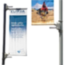 tension pole banners