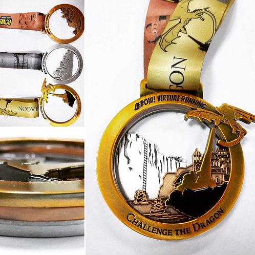 Challenge the dragon triple medal