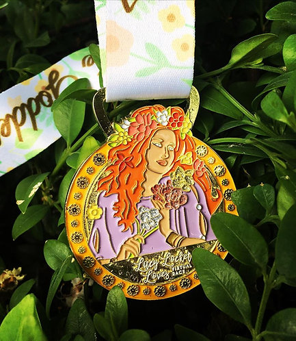 *END OF LINE LUCY LOCKET GODDESS MEDAL*