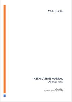 EMH Installation Manual
