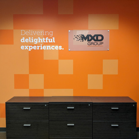 Custom Paint, Vinyl Lettering, & Dimensional Printed Acrylic with Stand-Offs