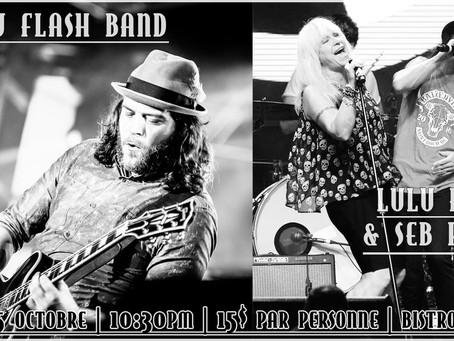 JOHNNY FLASH BAND & Lulu Hughes + Seb Plante