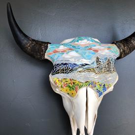 'Down River', Bison Skull
