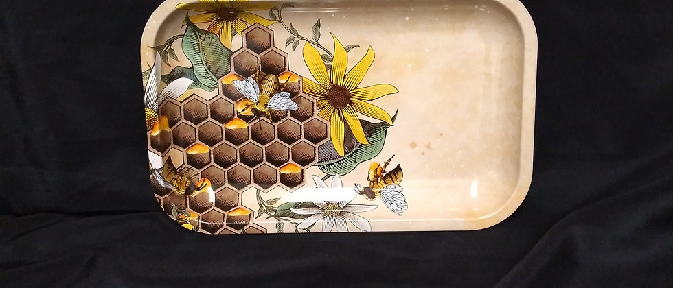 Large Honey Bee Rolling Tray