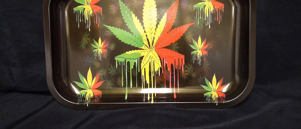Large Marijuana Leaf Rolling Tray