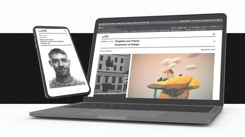 Interactive Media Design auf Mobile und Desktop