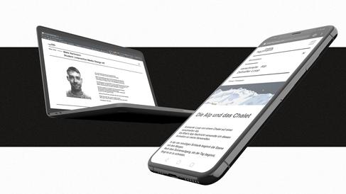 Responsive Webdesign als Mockup auf Smartphone und Laptop