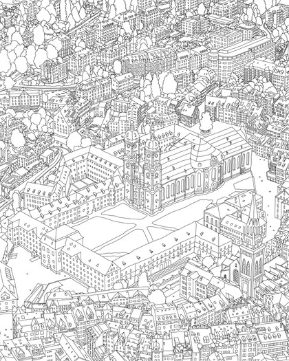 Stadtillustration Loop