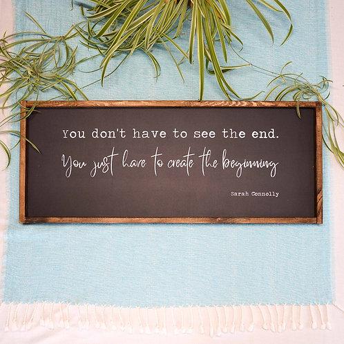 Create the beginning