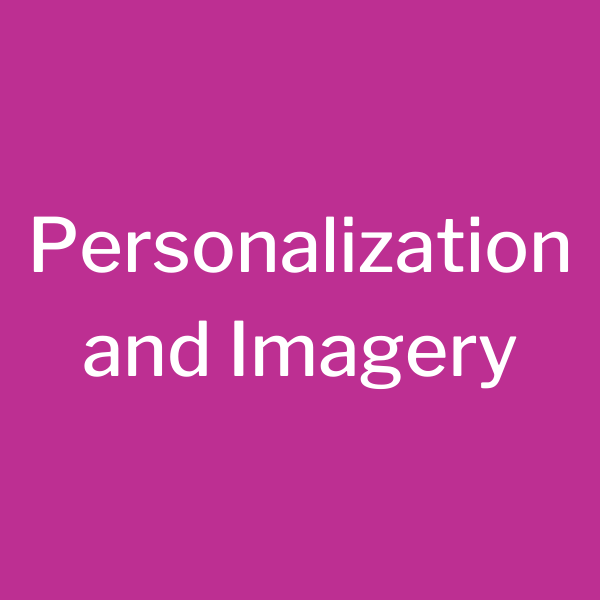 Emails need Personalization & Imagery 2.