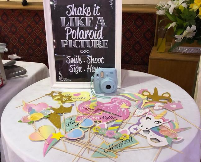 Mini Polaroid & Unicorn Props
