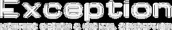 Logo Exception blanc fd trsp + baseline