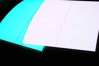 plaque lumiere bleue verte