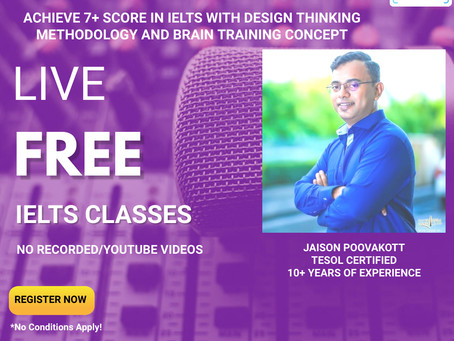 IELTS Coaching - Achieve 7+ Score with Design Thinking Methodology and Brain Training Concept