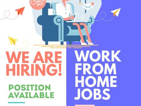 Work From Home Job - We are hiring!