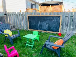 Fabriquer un espace pour écrire à l'extérieur