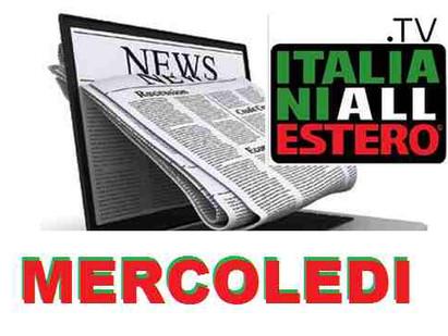RASSEGNA STAMPA DEL 03 FEBBRAIO 2021 ITALIANI ALL'ESTERO TV