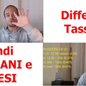 Differenza TASSE tra stipendi ITALIANI e INGLESI