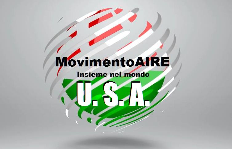 U. S. A. logo maire movimento aire