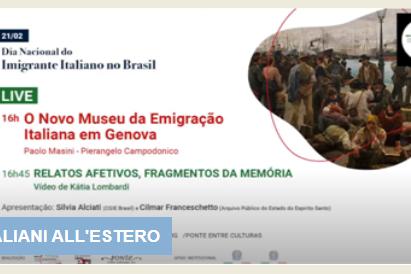Giornata dell'immigrazione italiana in Brasile, evento sul canale Youtube del Seminario emigrazione