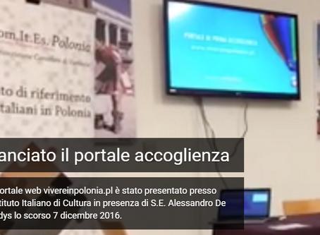 ITALIANI IN POLONIA - ACCOGLIENZA -COMITES E L'AIRE - VIVERE IN POLONIA - PRIMA PARTE