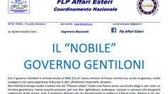 """Il """"NOBILE"""" GOVERNO GENTILONI E' ARRIVATO ANCHE AL MAE"""