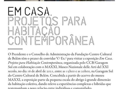 """16 APRILE  L'esposizione del MAXXI """"At Home. Progetti per l'abitare contemporaneo"""" al CCB di Lisbona"""