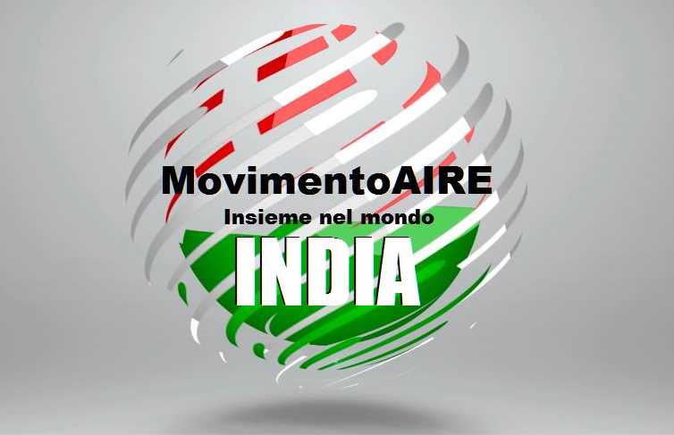 INDIA logo maire movimento aire