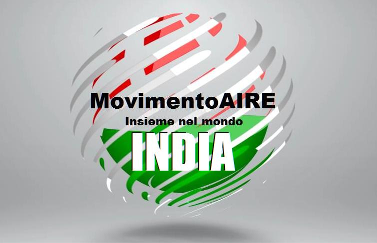 INDIA logo maire movimento aire