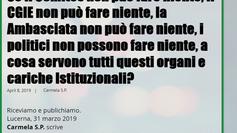 """"""" In Svizzera troppe mezze verità: Consolati, Comites e comunità italiana in Tilt."""""""