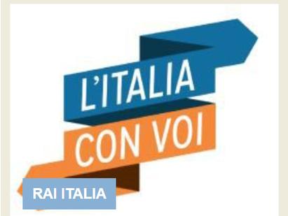"""LA 25° PUNTATA DE """"LE STORIE"""" DE """"L'ITALIA CON VOI"""" SU RAI ITALIA"""