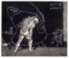 Kentridge etching 'Ubu Tells the Truth'