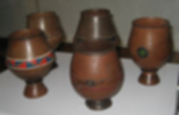 Ceramic beer cups from the Lesotho region