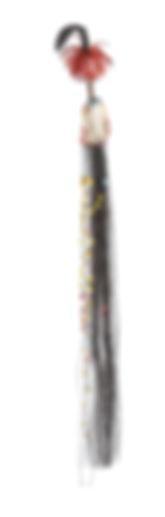 Swazi umntfwana/lishoba (730mm) Metal wire, glass beads, horeshair. Collection: JAG